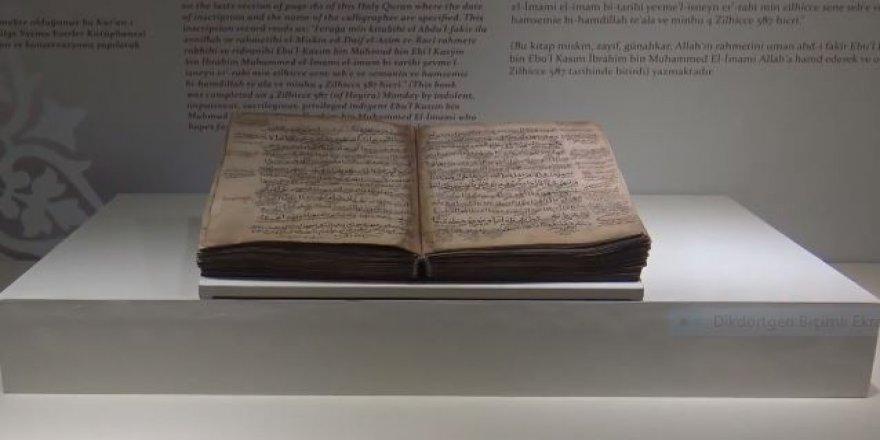 Anadolu'nun ilk el yazması Kur'an-ı Kerim'i Tokat'ta sergileniyor