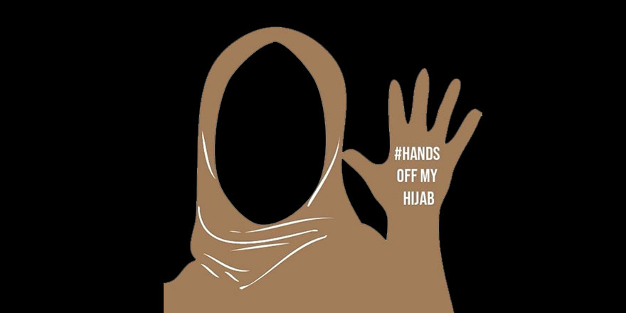 Fransa laikliğine protesto: Elini başörtümden çek!