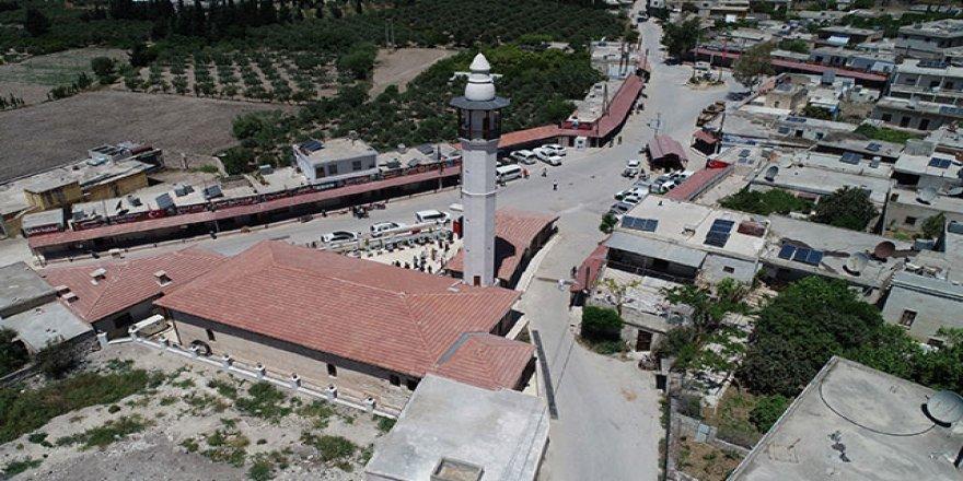 Afrin'de restorasyonu tamamlanan Ömer Bin Hattap Camisi, ibadete açıldı