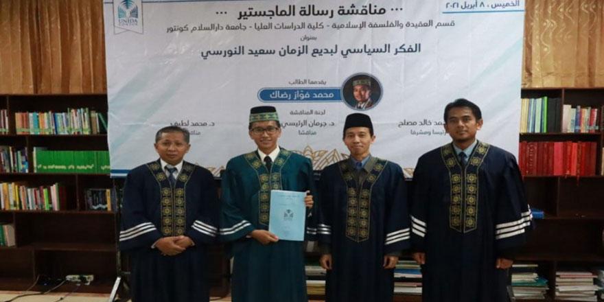 Endonezya'daki üniversite, 'Said Nursi'nin siyasi düşüncesi' tezini oybirliği ile kabul etti
