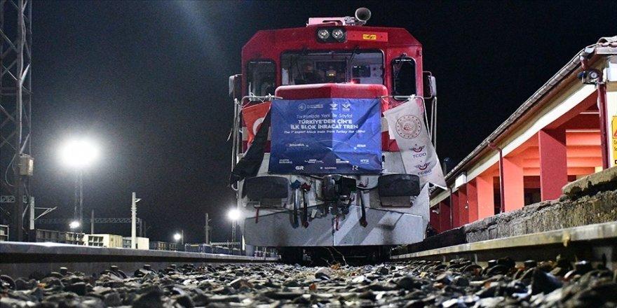 Türkiye'den Çin'e 6'ncı ve 7'nci ihracat trenleri yarın yola çıkacak