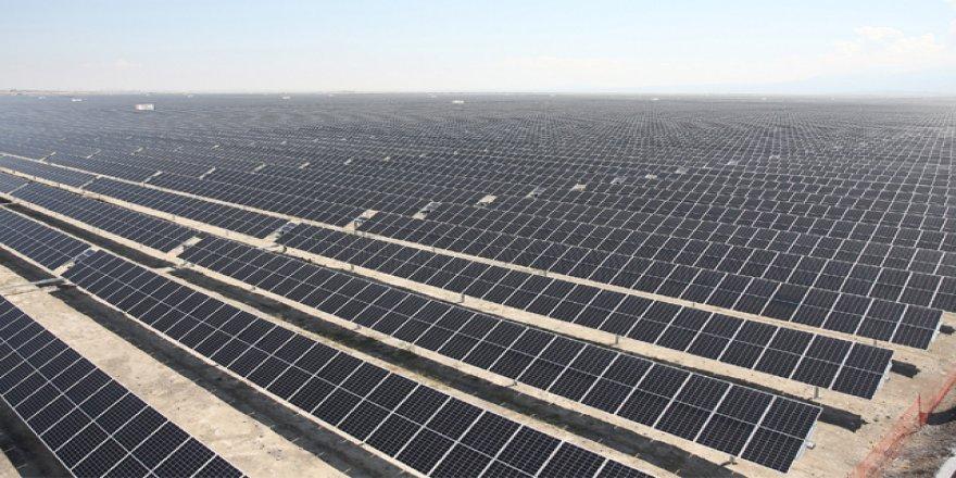 Güneş santralinin ilk fazı devrede