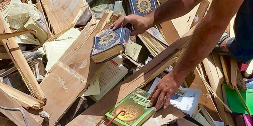 İşgalci İsrail'in bombaladığı kitapçıya dünyadan bağış desteği