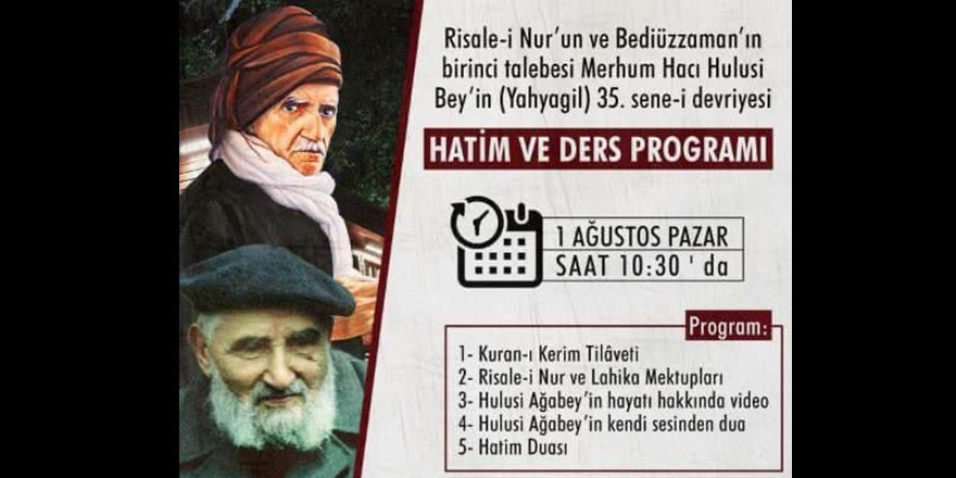 Hacı Hulusi Yahyagil anma programı