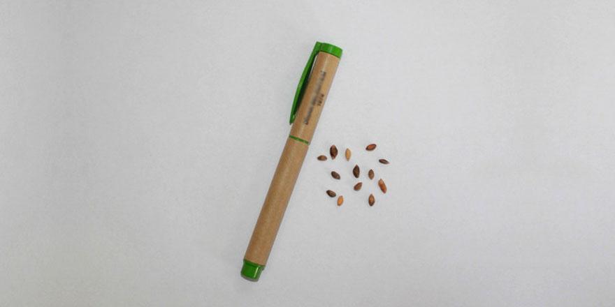 Evlenen çiftlere tohumlu nikah kalemi hediyesi