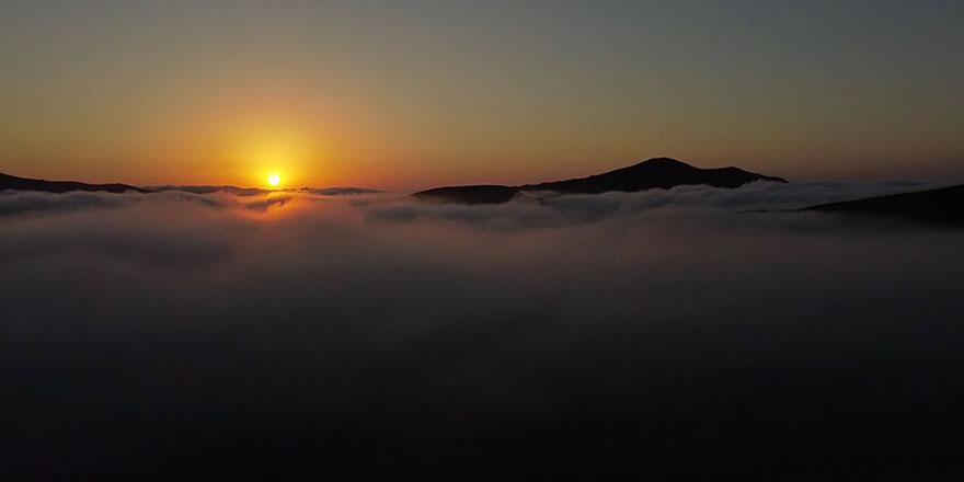 Gümüşhane yaylalarından enfes gün batımı manzarası