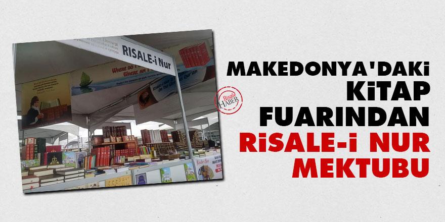 Makedonya'daki kitap fuarından Risale-i Nur mektubu