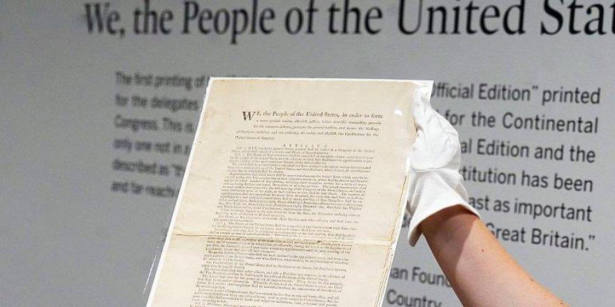 ABD anayasasının ilk baskısı 15 milyon dolar ile açık artırmaya çıkıyor