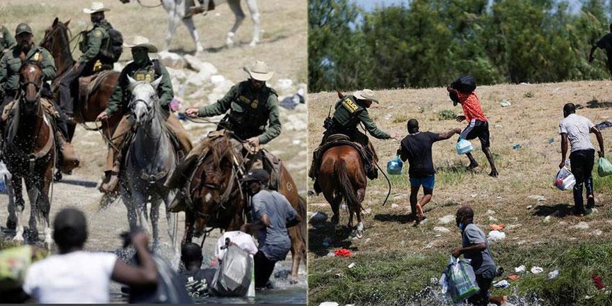 Dünya bunu konuşuyor: ABD polisi göçmenleri kırbaçladı!