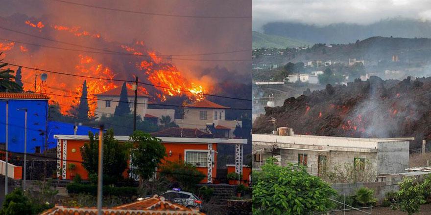 Lavlar evleri yutmaya başladı