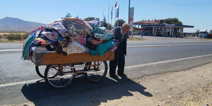 Maşallah! 88 yaşındaki çerçi amca, her gün kilometrelerce yol gidiyor