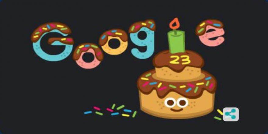 Google 23. yaş gününü doodle ile kutluyor!