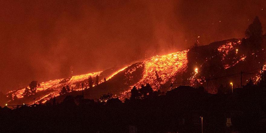 La Palma Adası'ndaki volkan bir ayda 85 milyon metreküp lav püskürttü