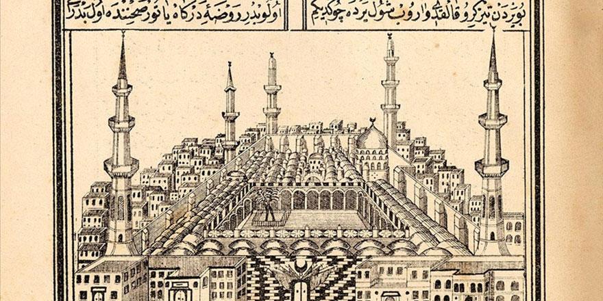 Kabe ve Medine-i Münevvere'nin 140 yıllık tasvirleri yayınlandı