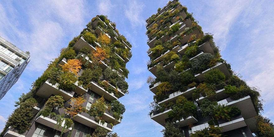 'Dikey Orman' apartmanlarında 21 bin ağaçla iç içe yaşıyorlar
