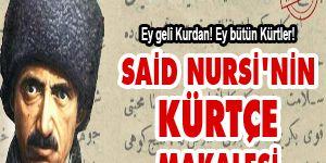 Said Nursinin Kürtçe makalesi
