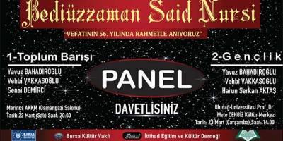 Bursa'da iki günlük Bediüzzaman'ı anma programı yarın başlıyor