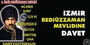 İzmir Bediüzzaman Mevlidi'ne davet