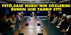 FETÖ'nün Said Nursi'nin sözlerini niye tahrif ettiğini açıklayan fetva heyetinden ziyaret