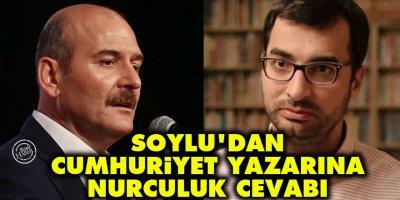 İçişleri Bakanı Soylu'dan Cumhuriyet yazarı Terkoğlu'na Nurculuk cevabı