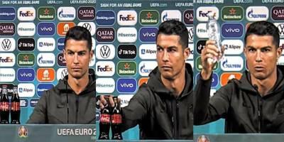 Kola'ya tepki gösteren Cristiano Ronaldo: Su için!