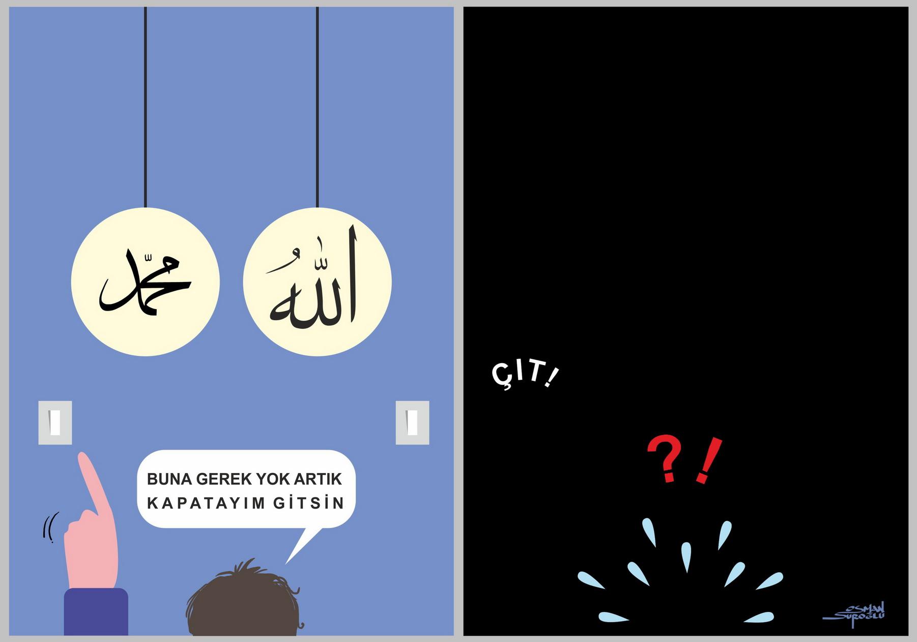 Hz. Muhammed sav ve - osman suroğlu karikatür