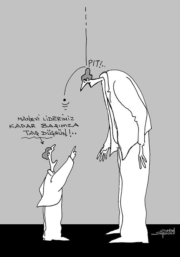 Manevi Lider! - Osman Suroğlu nun karikatürü