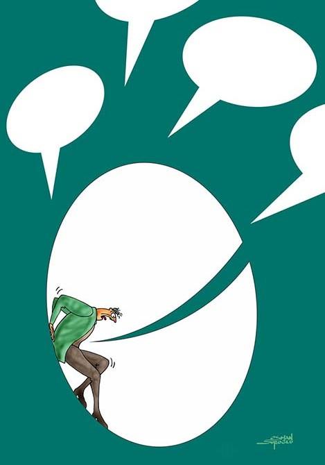 Osman Suroğlu karikatür - Konuşma