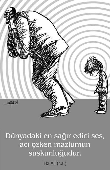 Osman Suroğlu Karikatür - Mazlum