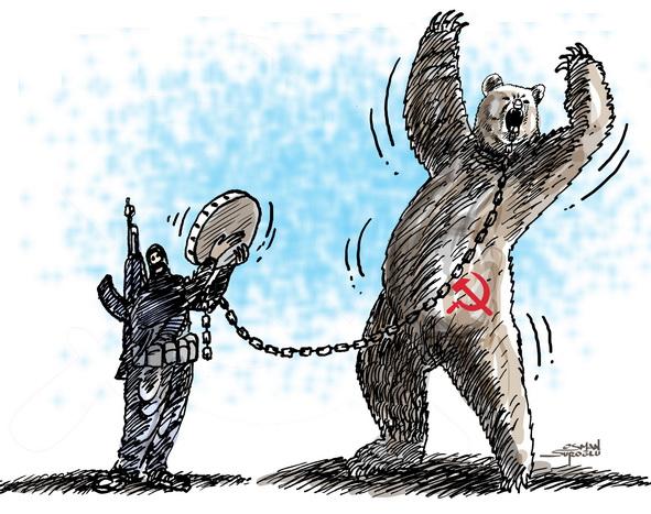 Osman Suroğlu karikatür - Rus
