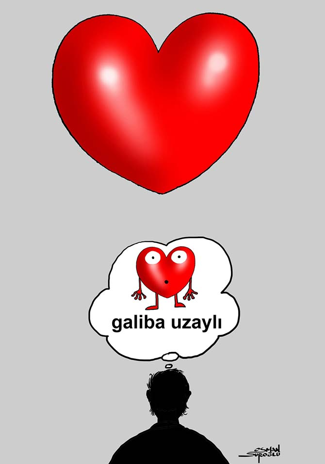 Osman Suroğlu karikatür - Sevgi